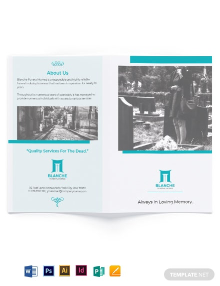 Funeral Home Services Bi-Fold Brochure Template