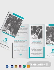 Funeral Home Services Tri-Fold Brochure Template