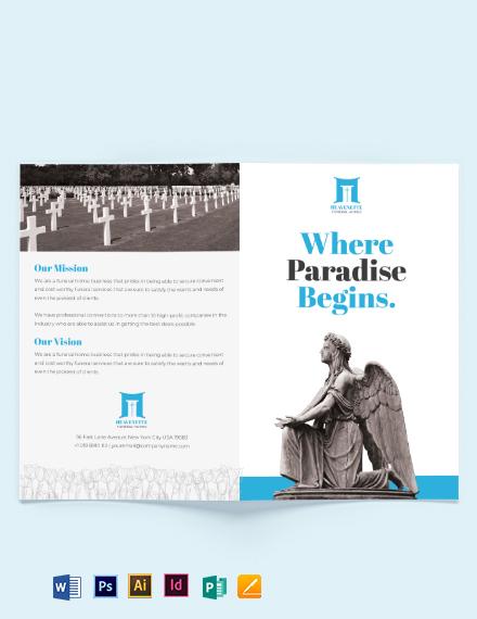 Funeral Parlor BiFold Brochure Template