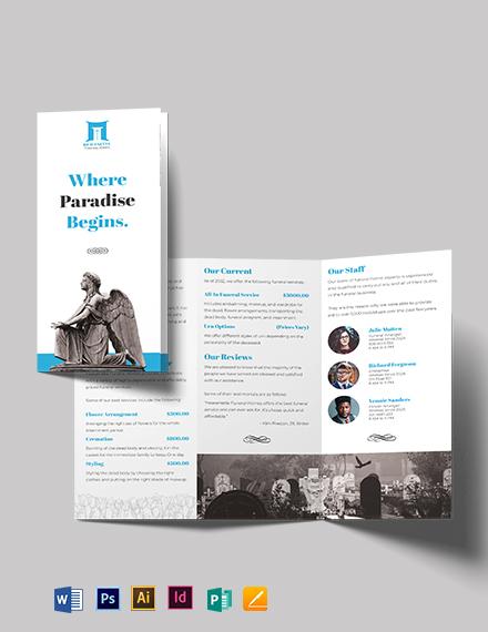Funeral Parlor Tri-Fold Brochure Template