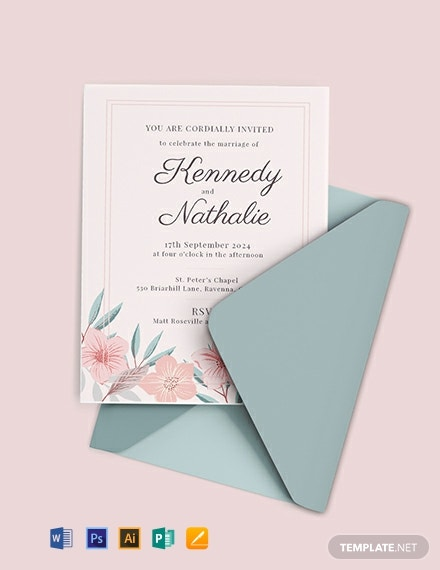 Marriage Invitation Card Template