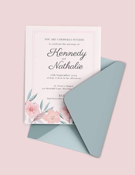 Marriage Invitation Card Template