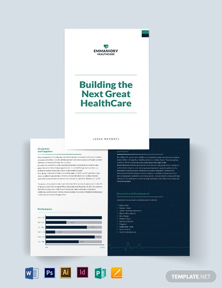 Health And Safety Annual Report Bi-Fold Brochure Template