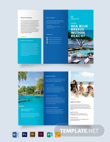 Holiday Resort Tri-Fold Brochure Template
