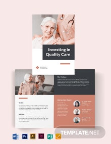 Hospice Care Bi-Fold Brochure Template