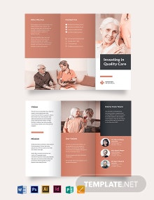Hospice Care Tri-Fold Brochure Template