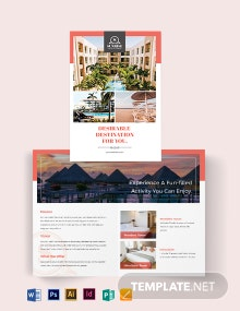 Hotel Advertising Bi-Fold Brochure Template