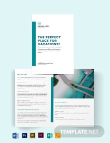 Hotel Resort Bi-Fold Brochure Template