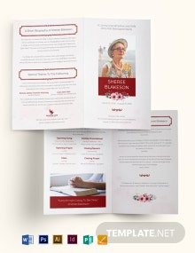In Loving Memory Funeral Bi-Fold Brochure Template