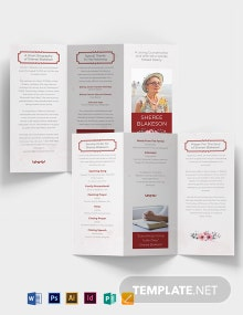 In Loving Memory Funeral Tri-Fold Brochure Template