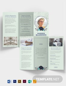 Loving Memory Day Funeral Tri-Fold Brochure Template