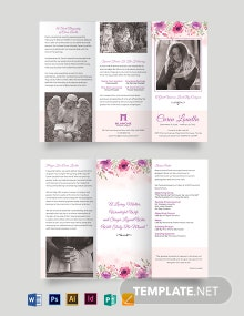 Mortuary Funeral Home Tri-Fold Brochure Template