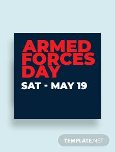 Armed Forces Day Facebook Profile Photo Template