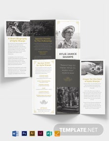 Mother/ MOM Eulogy Funeral Tri-fold Brochure Template