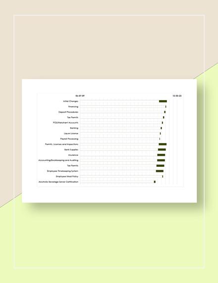 Restaurant Marketing Calendar Template