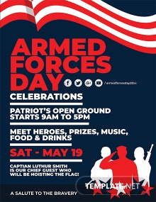 Free Armed Forces Day Flyer Template