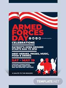 Armed Forces Day Flyer Template