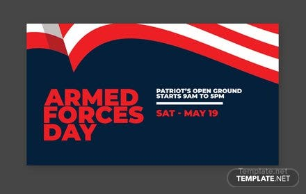 Armed Forces Day Google Plus Cover Template