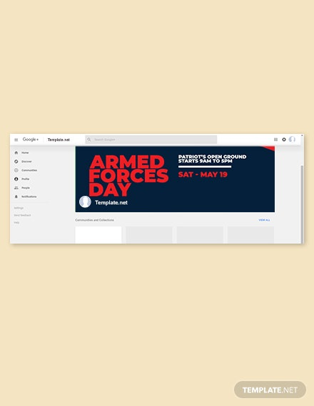 Free Armed Forces Day Google Plus Cover Template