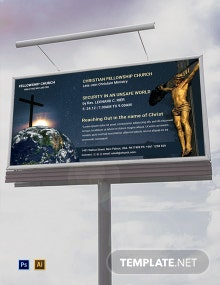 Free Church Billboard Template