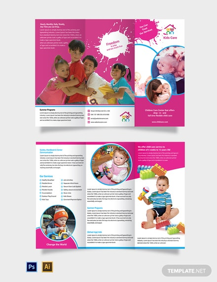 Free Day Care TriFold Brochure