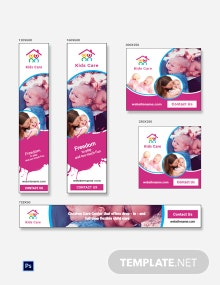 Free Day Care Ad Banner Template