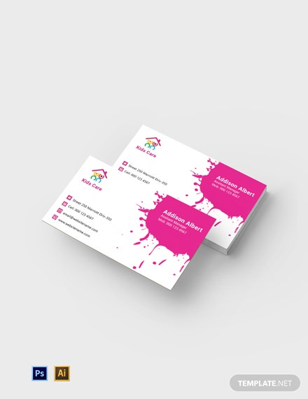 Free Day Care Business Card Template