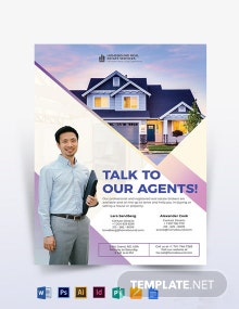 Real Estate Agent Marketing Flyer Template