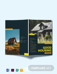 Advertising Real Estate Magazine Template