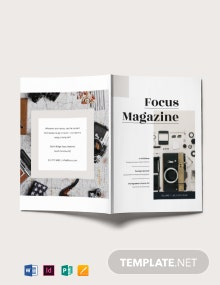 Basic Photography Magazine Template