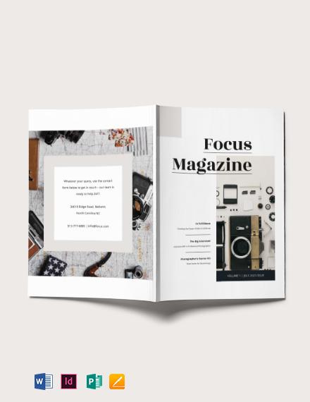 Basic Photography Magazine Template