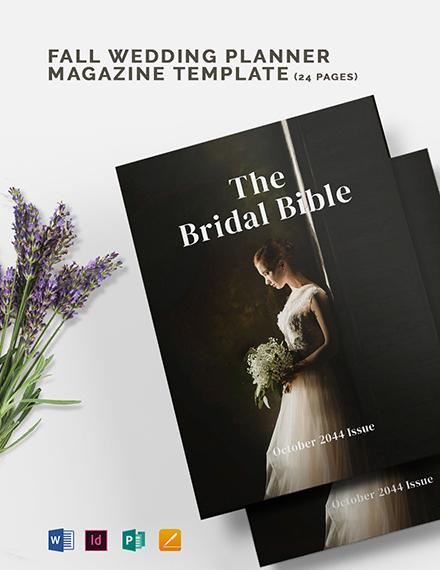 Bridal Magazine Template