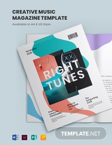 Creative Music Magazine Template