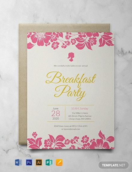 Free Ladies Breakfast Invitation Template