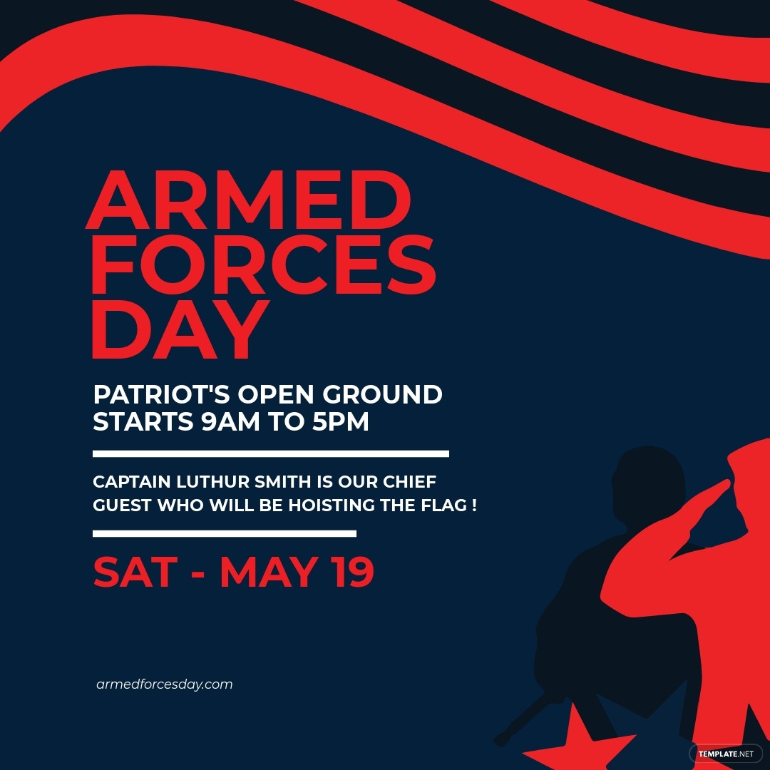 Armed Forces Day Instagram Post Template