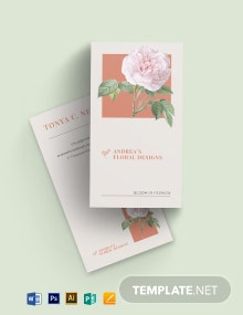Isabella Floral Business Card Template