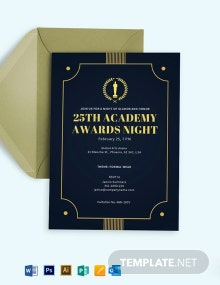 Academy Award Invitation Template