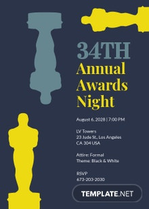 Annual Award Invitation Template