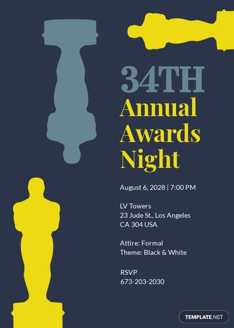 Annual Award Invitation Template
