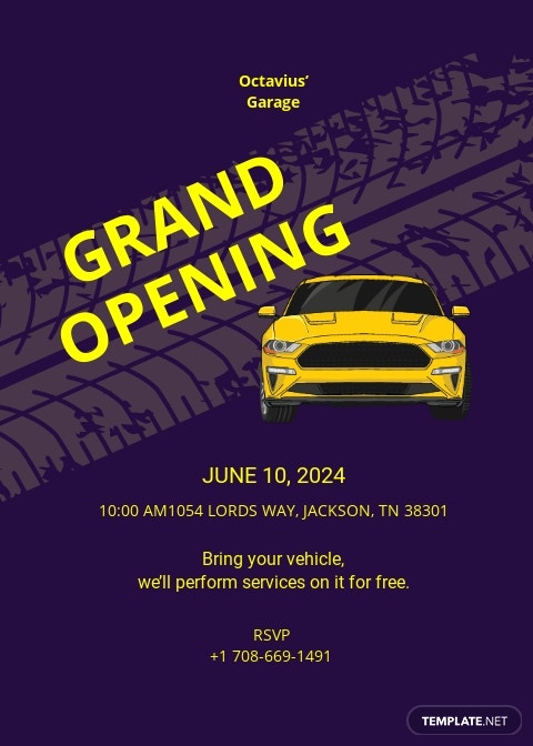 Automotive Repair Shop Opening Invitation Template.jpe