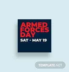 Armed Forces Day Instagram Profile Photo Template