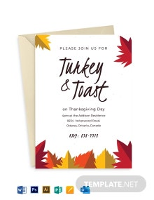 Autumn Dinner Party Invitation Template