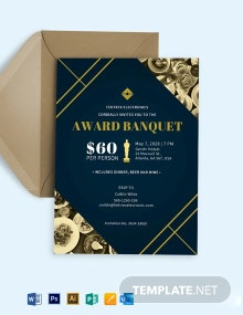 Award Banquet Invitation Template