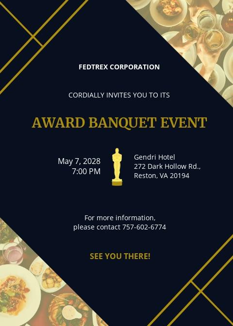 Award Banquet Invitation Template