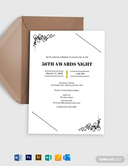 Award Function Invitation Template