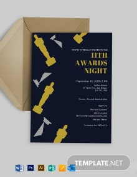Award Invitation Card Template