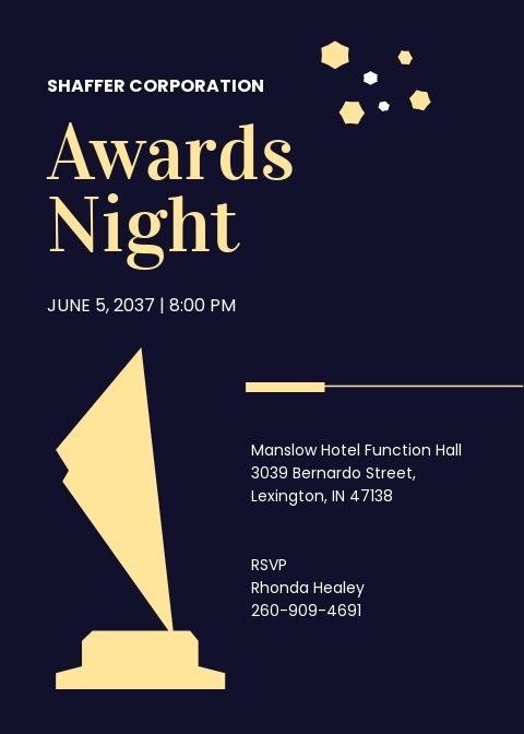 Award Night Invitation Template