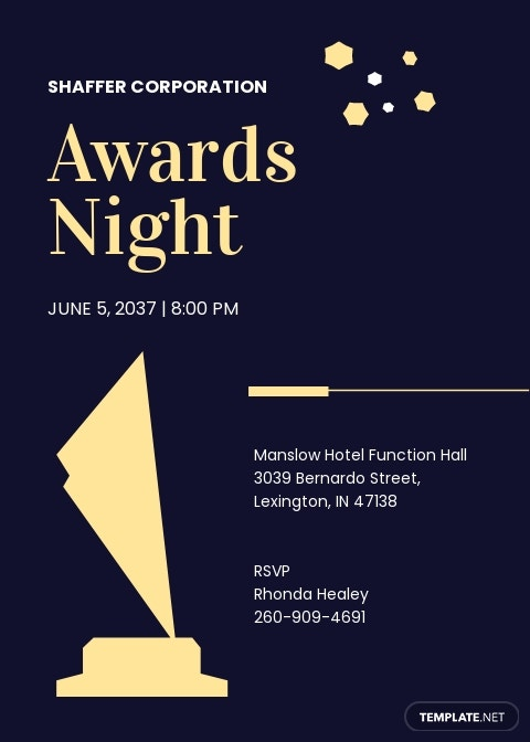 Award Night Invitation Template