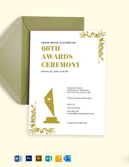 Awards Ceremony Invite Template