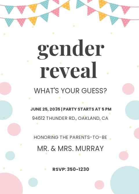 Baby Boy & Girl Shower Invitation Template